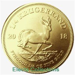 South Africa - Gold coin BU 1/4 oz, Krugerrand, 2018