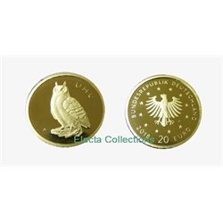Germany - 20 euro gold, UHU - EAGLE OWL, 2018