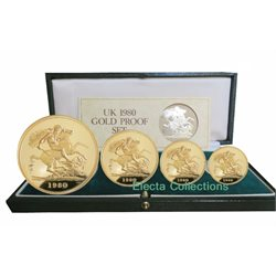 Great Britain - Gold Proof Sovereign Four Coin Set, 1980