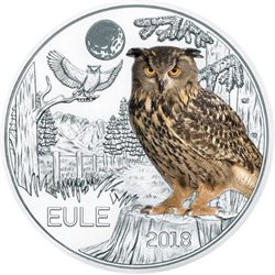 Austria – 3 Euro, the Owl, 2018