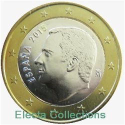 Spain – 1 Euro, New King Felipe VI, 2015 (BU in capsule)