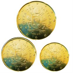 Vatican - Monnaie Euro Mini Set 10-20-50 cent, 2018