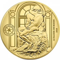France - 50 Euro gold, THE KISS (Rodin sculpture), 2018