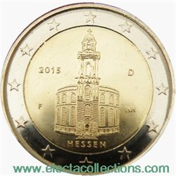 Germany – 2 Euro, St. Paul Church, Hesse, 2015
