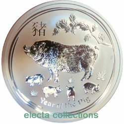Australien - 1 oz Ag Year of the Pig, 2019
