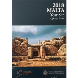 Malta - Official coin set BU 2018 + 2 euro Mnajdra (F)