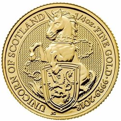 Regno Unito - Gold Coin 1/4 oz, Unicorn of Scotland, 2018