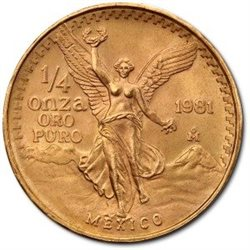 Mexique - Gold coin BU 1/4 oz, Libertad, 1981
