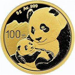 Cina - Gold coin BU 8g, Panda, 2019 (Sealed)