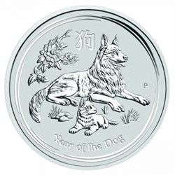 Australia - Silver coin BU 5 oz, Year of the Dog, 2018