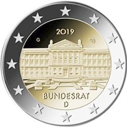 Germany – 2 Euro, Bundesrat, 2019
