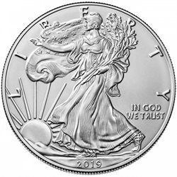 United States - Silver coin BU 1 oz, American Eagle, 2019
