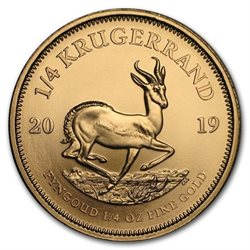 South Africa - Gold coin BU 1/4 oz, Krugerrand, 2019