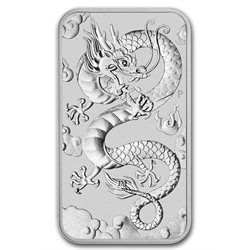 Australie - Piece d' argent BU 1 oz, Dragon rectangular, 2019
