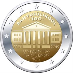 Estland - 2 Euro, University of Tartu, 2019