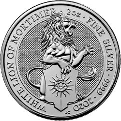 Great Britain - 2 oz silver, Lion of Mortimer, 2020
