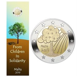 Malta – 2 Euro, Nature and environment, 2019 (coin card)