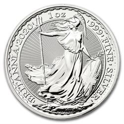 Great Britain - £2 Britannia One Ounce Silver Bullion, 2020