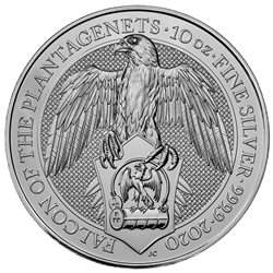 Great Britain - 10 oz silver BU, FALCON, 2020