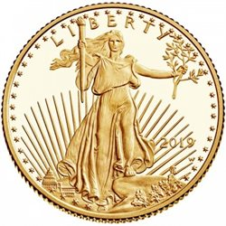 United States - Gold coin 1/4 oz, U.S. Eagle, 2019 (PROOF)