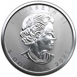 Canada - Silver coin BU 1 oz, Maple Leaf, 2020