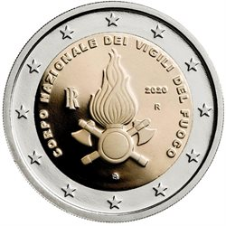 Italien - 2 Euro, National Firefighters, 2020 (BU in capsule)