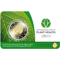 Belgio - 2 Euro, Year of Plant Health, 2020 (coin card FR)