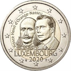 Lussemburgo - 2 euro, PRINCE HENRI OF THE NETHERLANDS, 2020
