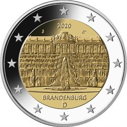Germania - 2 Euro, BRANDENBURG, 2020