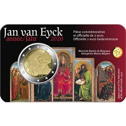 Belgio - 2 Euro, Jan van Eyck, 2020 (coin card FR)