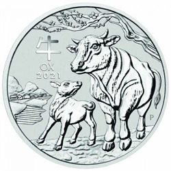 Australia - Silver coin BU 1 oz, Year of the Ox, 2021