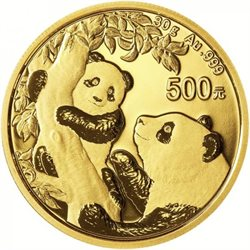China - Gold coin BU 30g, Panda, 2021 (Sealed)