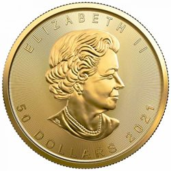 Canada - Gold coin BU 1 oz, Maple Leaf, 2021