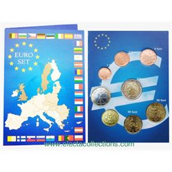 Italy - Euro coins, Complete UNC set, 2008