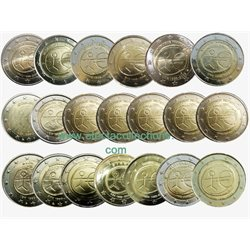All Countries – 2 Euro, 10 years EMU, 2009 (20 coins)