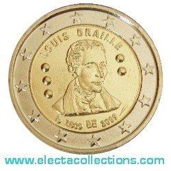 Belgien 2 Euro Louis Braille 2009