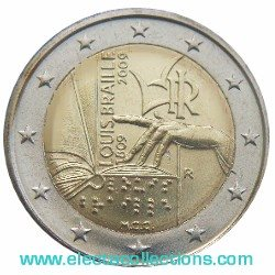Italia - 2 Euro, Louis Braille, 2009