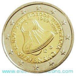 Slovakia – 2 Euro, 20th anniversary of Democracy, 2009