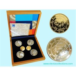 Greece - Torch Relay set, 2 gold and 4 silver coins, Olympic Games 2004