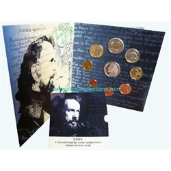 Grecia - Divisionale 2009 + 10 Euro  Yiannis Ritsos