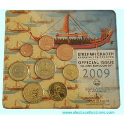 Greece - Official BU Set 2009 (with 2 Euro Europa)