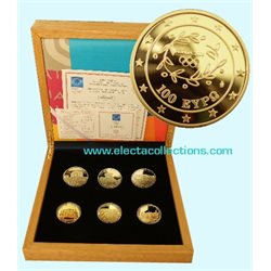 Greece - Collection 6 gold coins, Olympic Games 2004