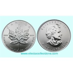 Canada - Silver coin BU 1 oz, Maple Leaf, 2010
