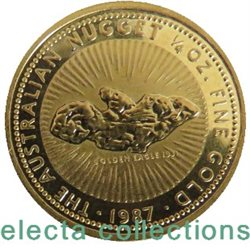 Australie - Gold coin BU 1/4 oz, Nugget, 1987