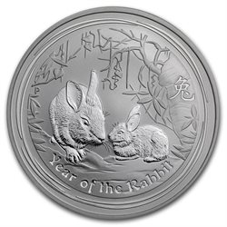 Australia - Silver coin BU 1 oz, Year of the Rabbit, 2011