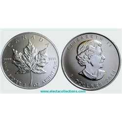Canada - Silver coin BU 1 oz, Maple Leaf, 2011