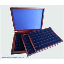 Presentation case - Three inlays, for 144 coins up to 30mm