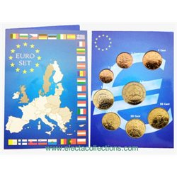 Grecia – Monete euro, Serie completa 2010 (BU in folder)