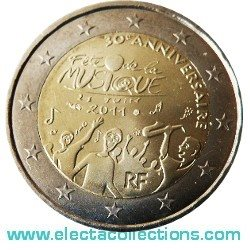 France - 2 Euro, The 30th anniversary of the Music Day, 2011