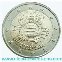 Slovenia – 2 Euro, 10 Years of EURO cash, 2012